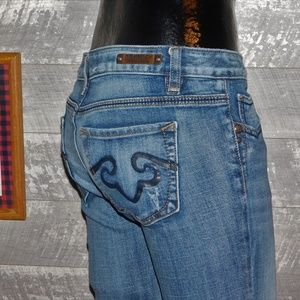 Rerock For Express Boot Cut Jeans Low Rise